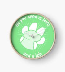 All you need is love and a LAB - Green Clock