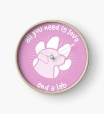 All you need is love and a LAB - Pink Clock