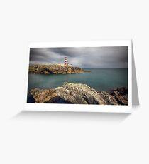 Eilean Glas Lighthouse, Western Isles. Greeting Card