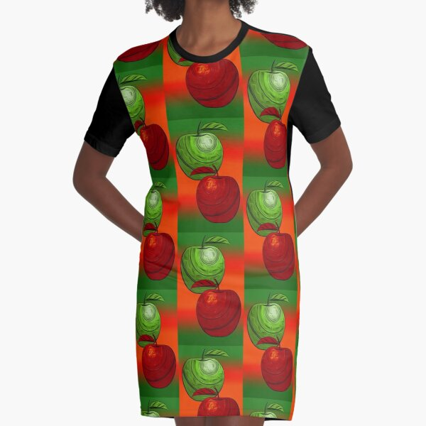 How do you like Dem Apples2/ Fruit Shop Graphic T-Shirt Dress