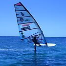 High Speed Hydrofoil Wind Surfers in South Pacific by Keith Richardson