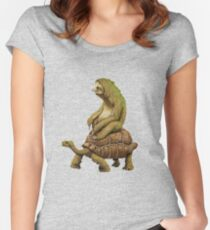 Funny Turtle,Fast,Animal,Lucky Turtle,Ninja,Speed Women's Fitted Scoop T-Shirt
