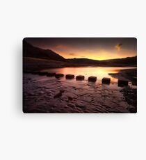 Sunrise at Three Cliffs Bay  Canvas Print