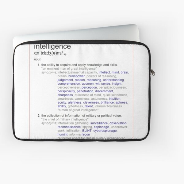 What intelligence means ? Laptop Sleeve