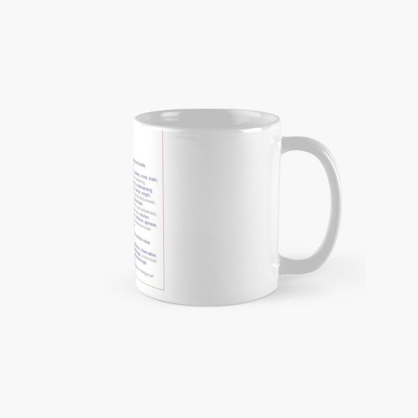 What intelligence means ? Classic Mug