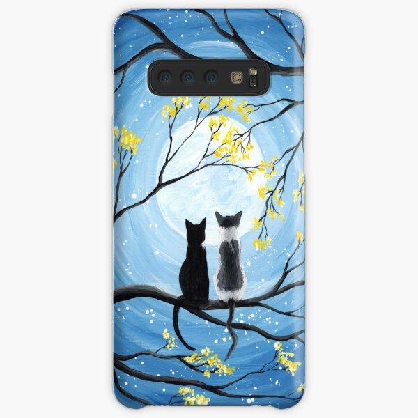 Cats Full Moon  Samsung Galaxy Snap Case