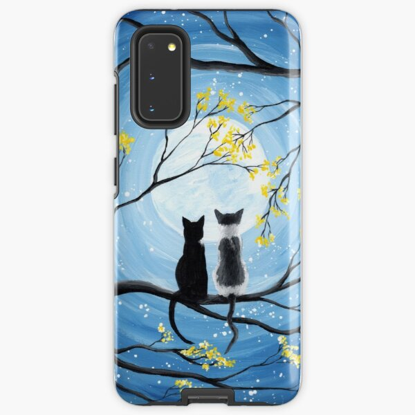 Cats Full Moon  Samsung Galaxy Tough Case