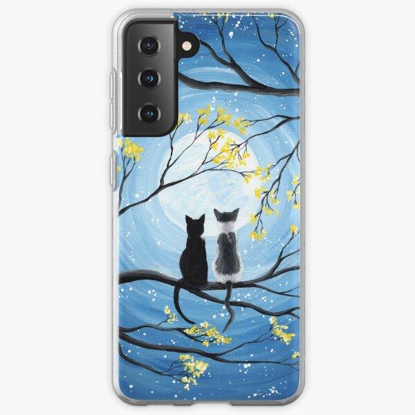 Cats Full Moon  Samsung Galaxy Soft Case
