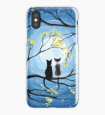 Cats Full Moon  iPhone Case/Skin
