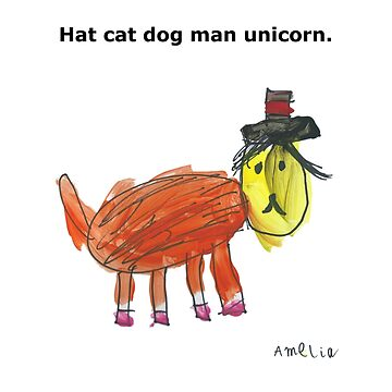 Hat cat dog man unicorn. by nicklowe