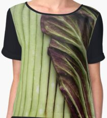 Titan Arum preparing to bloom Women's Chiffon Top