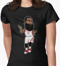 James Harden Cartoon Style Women's Fitted T-Shirt