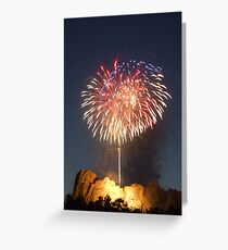 Fireworks over Mt. Rushmore Greeting Card