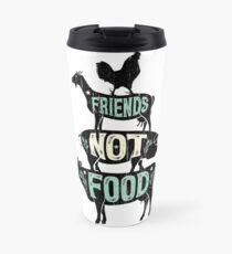 Freunde nicht essen - vegane vegetarische Tierliebhaber T-Shirt - Vintage Distressed Thermosbecher
