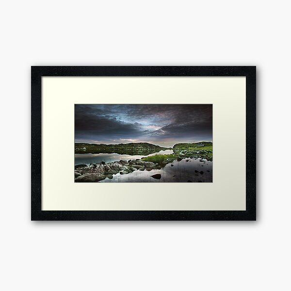 Bernera Sky Framed Art Print