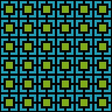 Geometric Pattern: Square Bracket: Green/Blue by redwolfoz