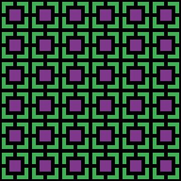Geometric Pattern: Square Bracket: Purple/Green by redwolfoz