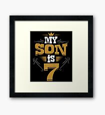 My Son Is 7 Funny Retro Vintage Birthday For Dads Framed Print