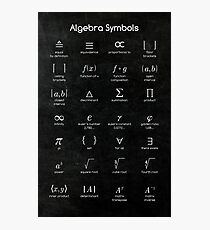 Algebra Symbols Photographic Print