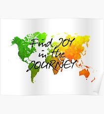 world map 120 find joy in the journey #map #worldmap Poster