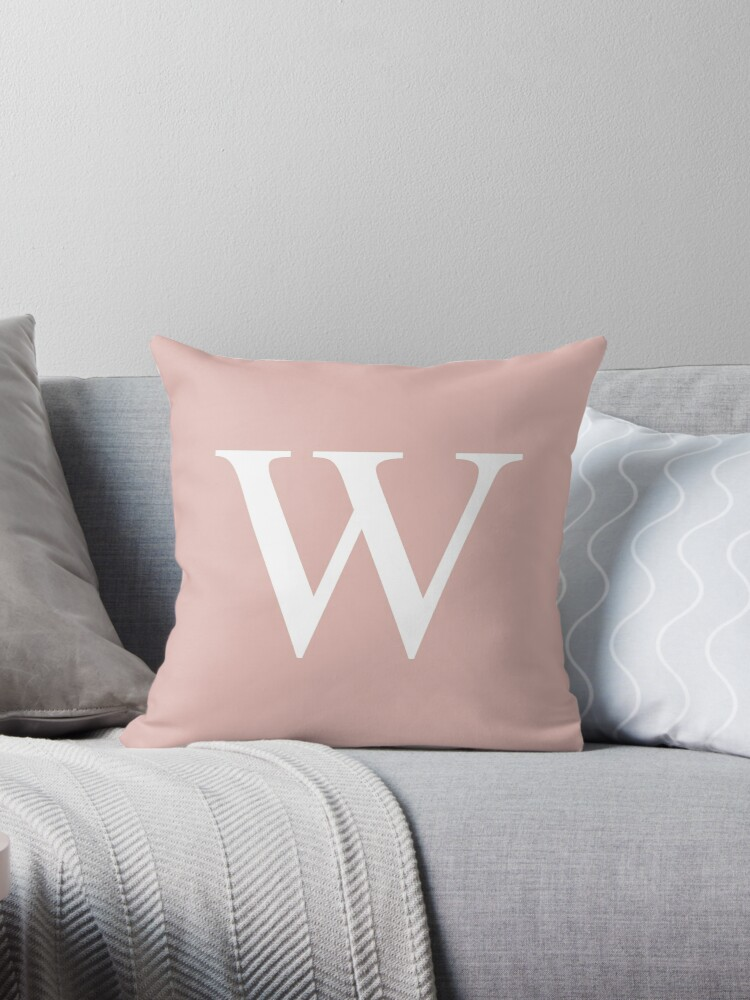 Rose Gold Basic Monogram W by rewstudio