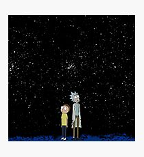 Rick and Morty lost in Space  Photographic Print