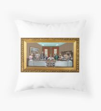 Crossroads Motel LAST SUPPER Throw Pillow