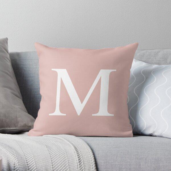 Rose Gold Basic Monogram M Throw Pillow