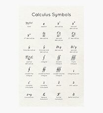 Calculus Symbols Photographic Print