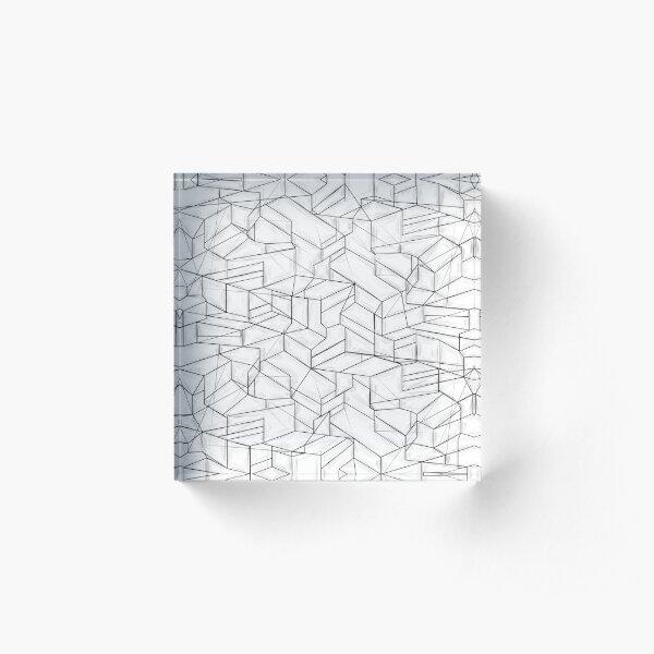 Labyrinth Lines Acrylic Block