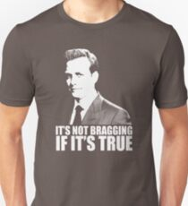 Suits Harvey Specter It's Not Bragging Tshirt white Slim Fit T-Shirt