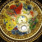 Opera Garnier ceiling in Paris, painted by Chagall by Carol Dumousseau