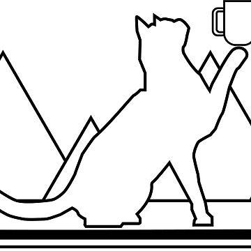 Snowboarding Tea Cat by duffieapparel