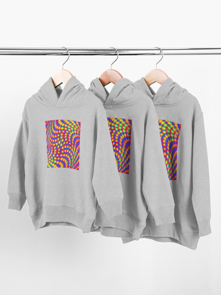 Alternate view of Color Waves Toddler Pullover Hoodie