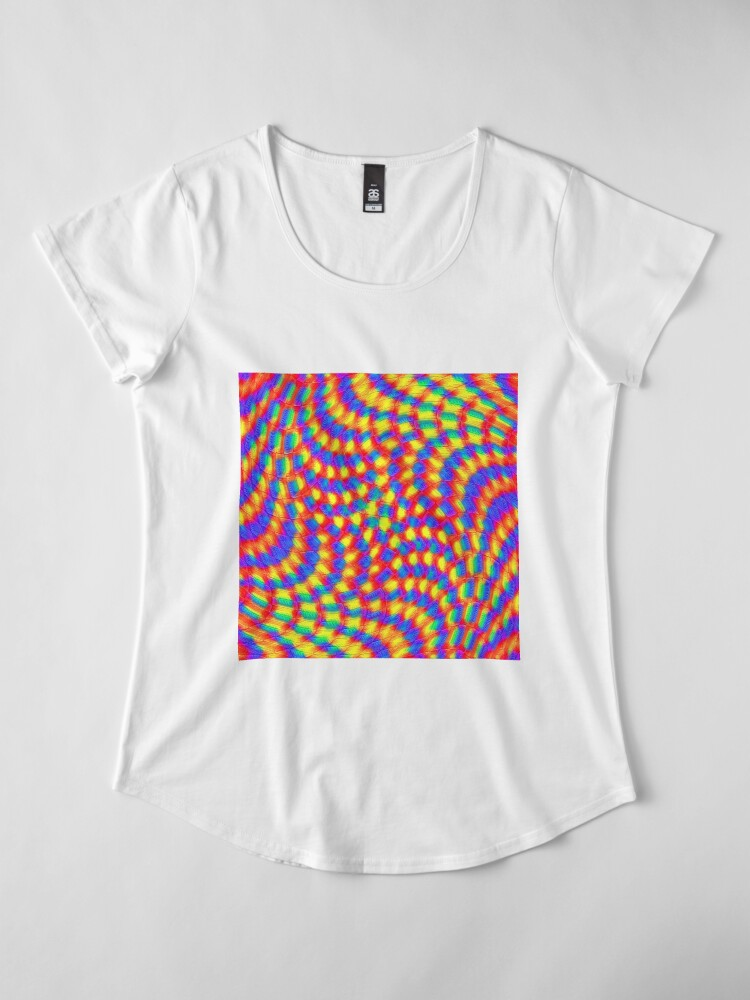 Alternate view of Color Waves Premium Scoop T-Shirt