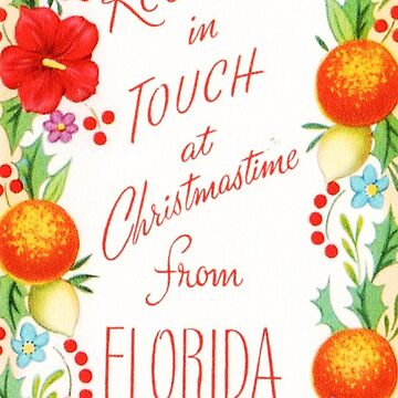 """Keeping in Touch From Florida"" Vintage Mid Century Christmas Card by Framerkat"