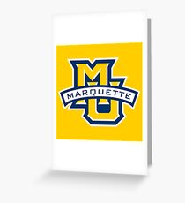 Marquette Golden Eagles Greeting Card