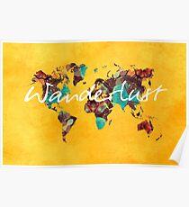 world map 123 wanderlust #wanderlust #map Poster