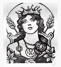 """""""The Empress"""" - Illustration (Etching) Poster"""