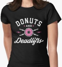 Donuts And Deadlifts Women's Fitted T-Shirt