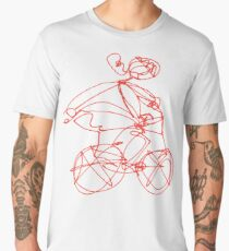 Open Road - Biking A Red Men's Premium T-Shirt