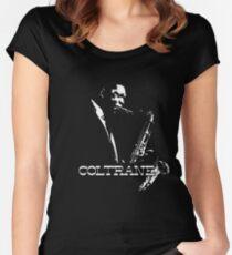 Trane - John Coltrane - b&w plain design Women's Fitted Scoop T-Shirt