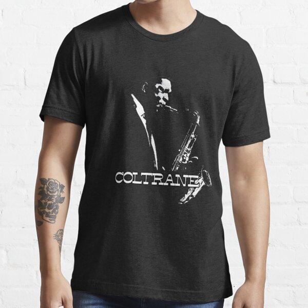 HD Trane - John Coltrane - b & amp; w diseño simple ALTA DEFINICIÓN Camiseta esencial