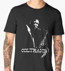 Trane - John Coltrane - b&w plain design Men's Premium T-Shirt