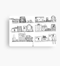 Shelf Collection Canvas Print
