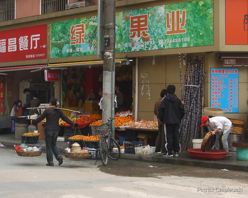 Shanghai street market by Patrick Czaplewski