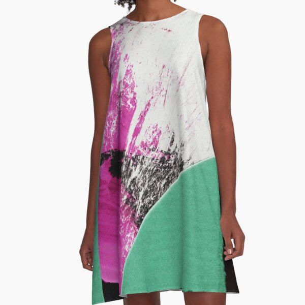 abstract paper collage A-Line Dress