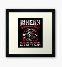 Motorcycle Bikers Are Impossible To Push Around Framed Print