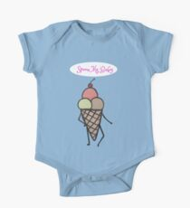 Flirty Ice Cream Cone (Blue Version and Word Version) Kids Clothes
