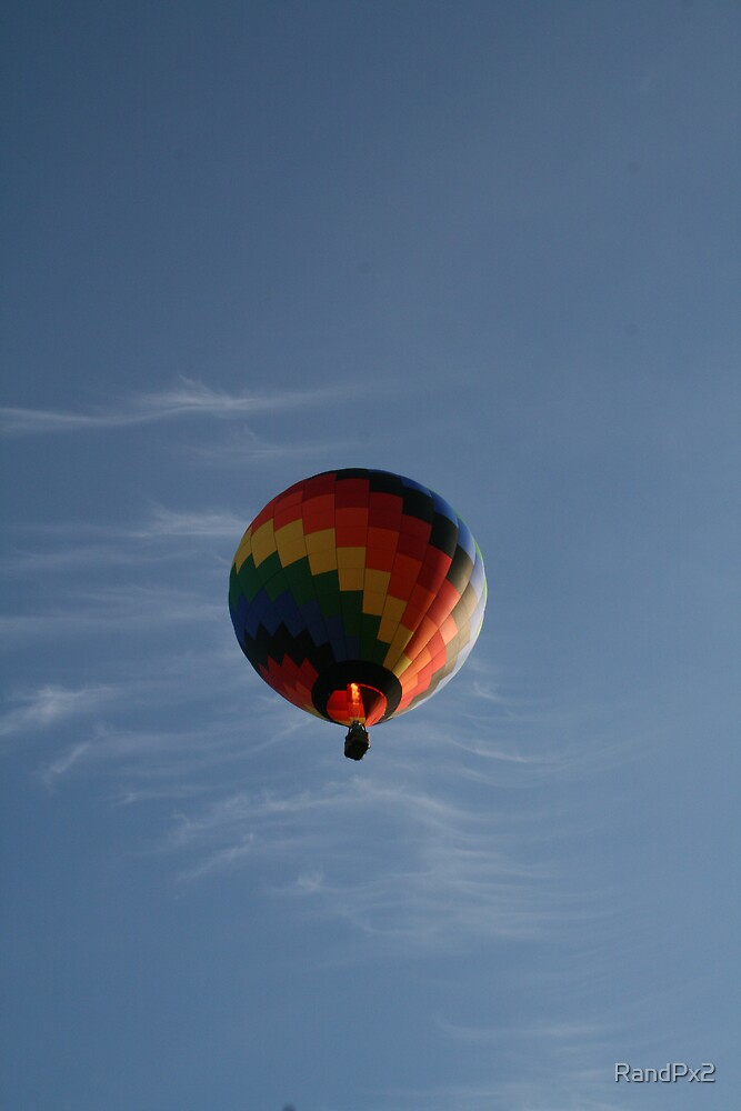 Colorful Hot Air Balloon by RandPx2